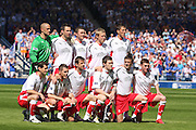 Falkirk team before the Homecoming Scottish FA Cup Final between Falkirk and Rangers at Hampden Park (picture by David Young - 07765 252616)