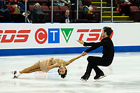 KELOWNA, BC - OCTOBER 25: Canadian figure skaters Liubov Ilyushechkina and Charlie Bilodeau compete in the pairs short program of Skate Canada International held at Prospera Place on October 25, 2019 in Kelowna, Canada. (Photo by Marissa Baecker/Shoot the Breeze)