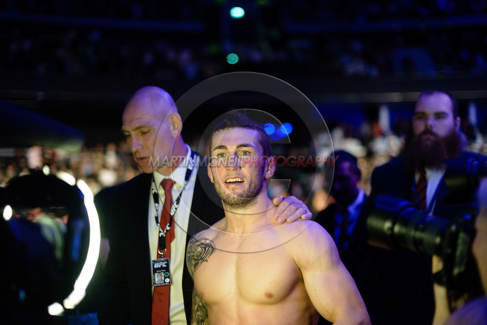 "GLASGOW, SCOTLAND, JULY 18, 2015: Stevie Ray is pictured during ""UFC Fight Night 72: Bisping vs. Leites"" inside the SSE Hydro Arena in Glasgow, Scotland (Martin McNeil for ESPN)"