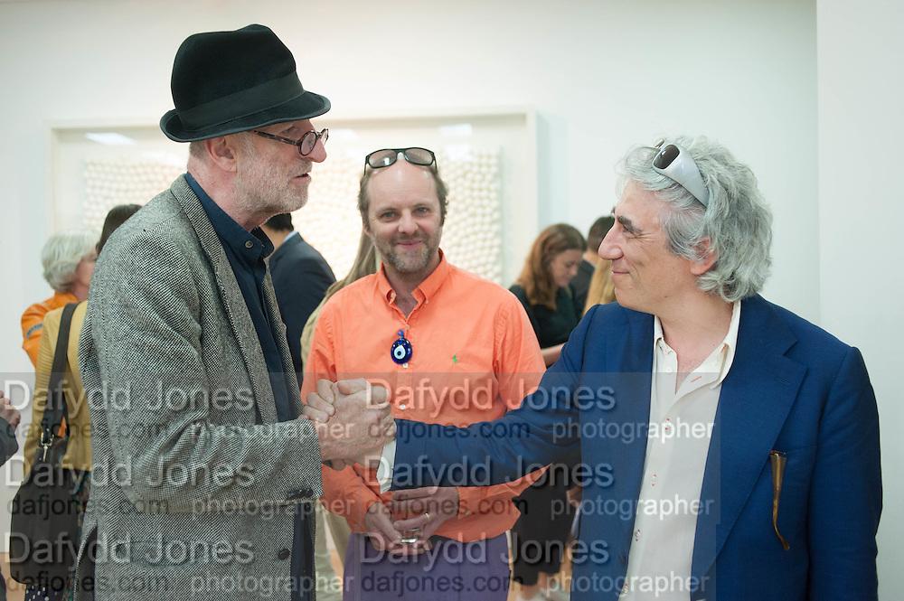 RICHARD STRANGE; GAVIN TURK, The Years, Gavin Turk<br /> Private view:  , Ben Brown Fine Arts, 12 Brooks Mews, London, W1. 25 April 2013.