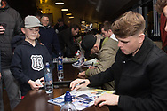 18/12/2017 - Dundee FC calendar signing at Dens Park, Dundee, Picture by David Young -