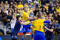Branko Vujovic of RK Celje Pivovarna Lasko during handball match between RK Celje Pivovarna Lasko (SLO) and Paris Saint-Germain Handball (FRA) in VELUX EHF Champions League, on February 11, 2018 in Dvorana Zlatorog, Celje, Slovenia. Photo by Urban Urbanc / Sportida