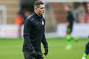 Forest Green Rovers Jack Aitchison(29), on loan from Celtic warming up during the EFL Sky Bet League 2 match between Leyton Orient and Forest Green Rovers at the Matchroom Stadium, London, England on 23 November 2019.