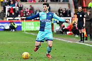 Joe Jacobson (3) of Wycombe Wanderers during the EFL Sky Bet League 2 match between Exeter City and Wycombe Wanderers at St James' Park, Exeter, England on 10 February 2018. Picture by Graham Hunt.