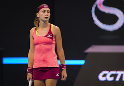 September 29, 2018 - Aleksandra Krunic of Serbia in action during her first-round match at the 2018 China Open WTA Premier Mandatory tennis tournament (Credit Image: © AFP7 via ZUMA Wire)