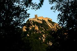PORTUGAL SINTRA 7OCT06 - View of the Castelo dos Mouros, the moorish fortress atop the mountain above Sintra...jre/Photo by Jiri Rezac..© Jiri Rezac 2006..Contact: +44 (0) 7050 110 417.Mobile:  +44 (0) 7801 337 683.Office:  +44 (0) 20 8968 9635..Email:   jiri@jirirezac.com.Web:    www.jirirezac.com..© All images Jiri Rezac 2006 - All rights reserved.
