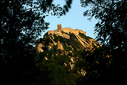 PORTUGAL SINTRA 7OCT06 - View of the Castelo dos Mouros, the moorish fortress atop the mountain above Sintra...jre/Photo by Jiri Rezac..© Jiri Rezac 2006..Contact: +44 (0) 7050 110 417.Mobile:  +44 (0) 7801 337 683.Office:  +44 (0) 20 8968 9635..Email:   jiri@jirirezac.com.Web:    www.jirirezac.com..© All images Jiri Rezac 2006 - All rights reserved.