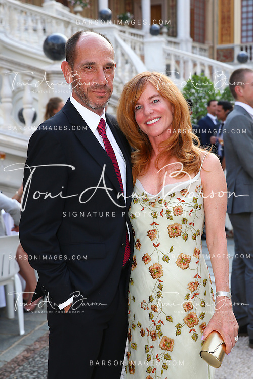 MONTE-CARLO, MONACO - JUNE 09:  Miguel Ferrer and wife attend a Cocktail Reception at Monaco Palace on June 9, 2014 in Monte-Carlo, Monaco.  (Photo by Pool Barson/FilmMagic)
