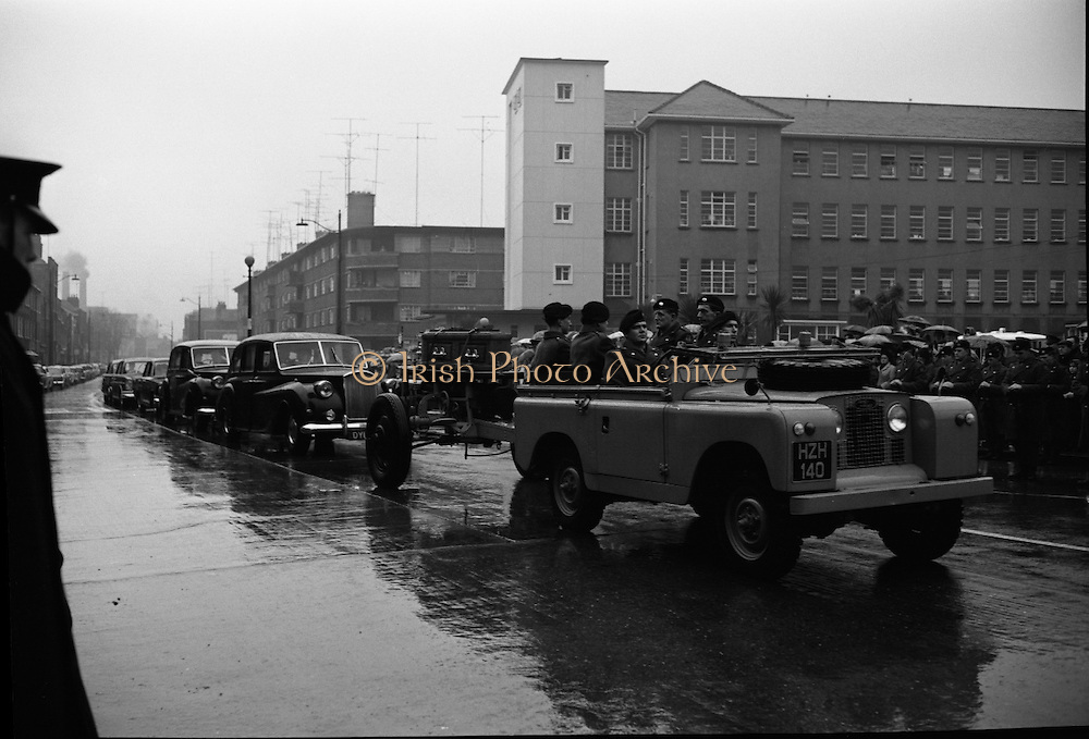 The State Funeral of William. T. Cosgrave, former President of the Executive Council of the Irish Free State, took place at the Church of the Annunciation, Rathfarnham, to Golden Bridge Cemetery..18.11.1965