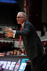 Nov 15, 2011; Stanford CA, USA;  Southern Methodist Mustangs head coach Matt Doherty on the sidelines against the Fresno State Bulldogs during the first half of a preseason NIT game at Maples Pavilion.  Mandatory Credit: Jason O. Watson-US PRESSWIRE