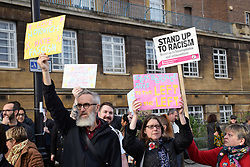 Norwich Against Fascists organised a large counter-demonstration at UK Unity 'take back control' pro-Brexit protest taking place across the road. Norwich, UK 10 November 2018