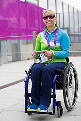 Mateja Pintar, table tennis athlete of Slovenian Paralympic team at Day 1 of Summer Paralympic Games London 2012 on August 29, 2012, in Olympic Park, London, Great Britain. (Photo by Vid Ponikvar / Sportida.com)