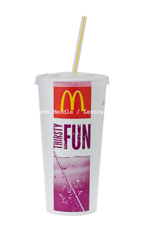 Cup of McDonalds Cola with Straw - Mar 2013.
