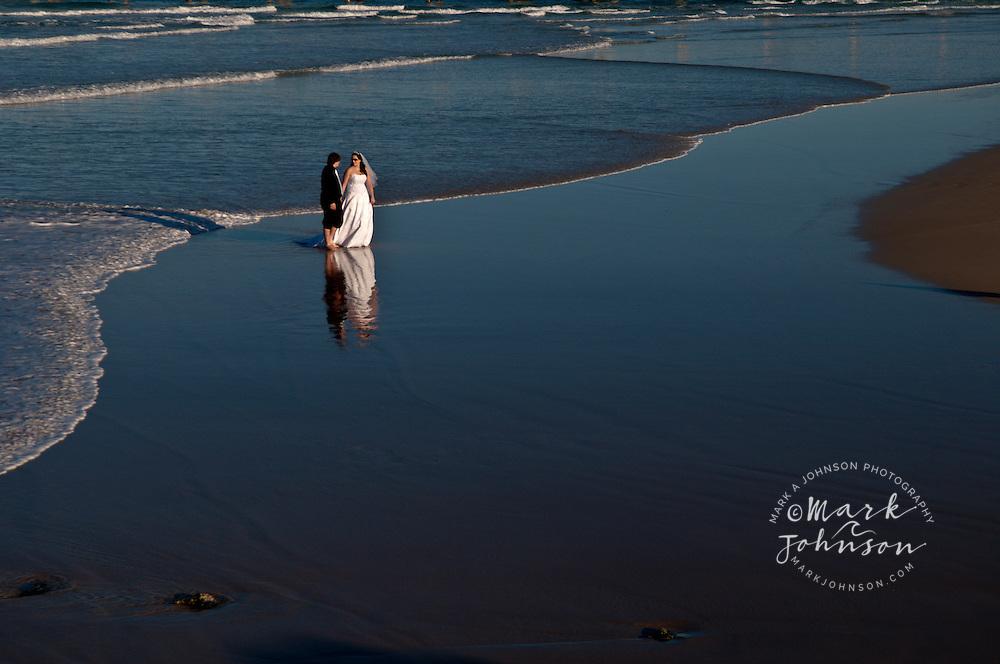 Bride and Groom on the beach, Gold Coast, Queensland, Australia