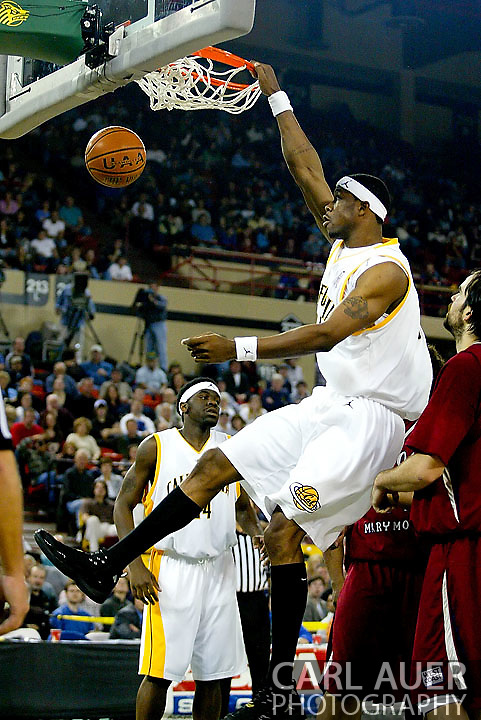 11/25/2006 - Anchorage, Alaska: LMU had no answer for Junior center DeVon Hardin (35) of the California Golden Bears as he dominated the paint with thundering dunks as the California Golden Bears edged Loyola Marymount University 78-70 to capture the championship title of the 2006 Great Alaska Shootout<br />