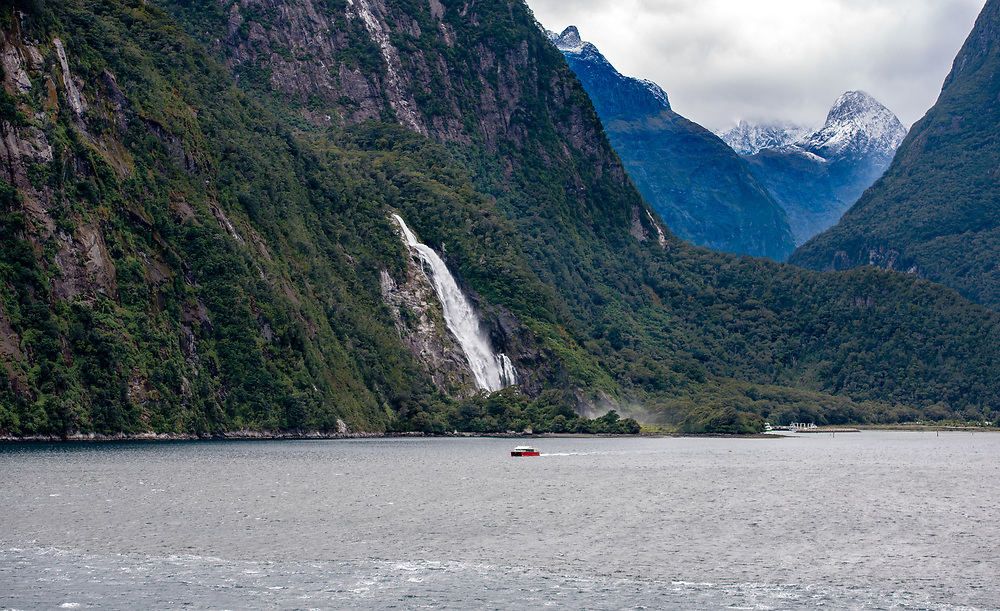 View of the Fiord sailing along the Milford Sound