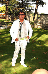 Interior designer NICKY HASLAM at the wedding of musician Jools Holland to Lady Crystabel Durham held at Cooling Village Church, Cooling, Kent on 30th August 2005.<br /><br />NON EXCLUSIVE - WORLD RIGHTS
