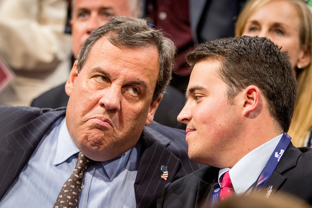 New Jersey Governor Chris Christie (R-NJ) The Republican National Convention in Cleveland, where Donald Trump is nominated as the republican presidential candidate.