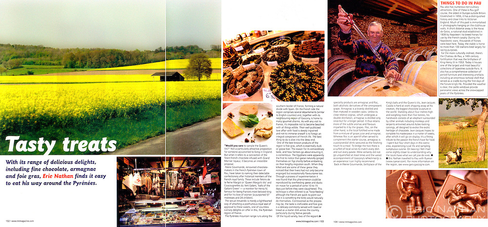 Tear sheet from TNT magazine of an article I wrote and photographed on the Pyrenees.