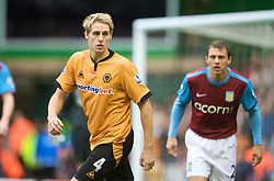 WOLVERHAMPTON, ENGLAND - Saturday, October 24, 2009: Wolverhampton Wanderers' David Edwards during the Premiership match against Aston Villa at Molineux. (Photo by David Rawcliffe/Propaganda)