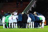 VICTOIRE ET JOIE DE EVIAN  - 04.03.2015 - Evian Thonon / Lorient - Match en retard de la 26eme journee de Ligue 1 <br />
