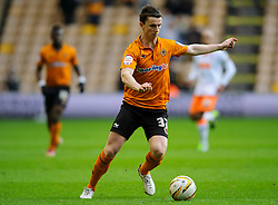 Wolves Defender Kevin Foley (IRL) in action during the first half of the match - Photo mandatory by-line: Rogan Thomson/JMP - Tel: Mobile: 07966 386802 26/01/2013 - SPORT - FOOTBALL - Molineux Stadium - Wolverhampton. Wolverhampton Wonderers v Blackpool - npower Championship.