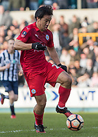 Football - 2016 / 2017 FA Cup - Fifth Round: Millwall vs. Leicester City <br /> <br /> Shinji Okazaki of Leicester City at The Den<br /> <br /> COLORSPORT/DANIEL BEARHAM