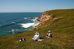 California wildflower travel: Picnic at Chimney Rock at Point Reyes.Photo copyright Lee Foster.  Photo # cawild102570