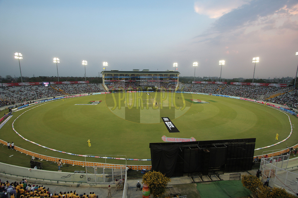 A general view of Mohali during match 9 of the Indian Premier League ( IPL ) Season 4 between the Kings XI Punjab and the Chennai Super Kings held at the PCA stadium in Mohali, Chandigarh, India on the 13th April 2011..Photo by Anil Dayal/BCCI/SPORTZPICS