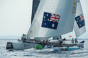 GAC Pindar and Emirates Team New Zealand,  Day three of the Extreme Sailing Series Regatta at Nice. 4/10/2014