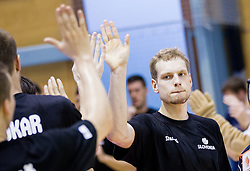 Jaka Blazic of Slovenia during friendly basketball match between National teams of Slovenia and Georgia in day 2 of Adecco Cup 2014, on July 25, 2014 in Dvorana OS 1, Murska Sobota, Slovenia. Photo by Vid Ponikvar / Sportida.com