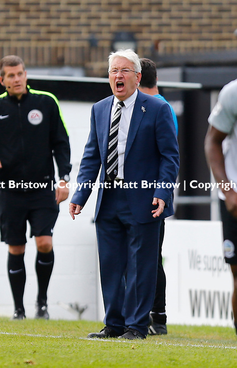SEPTEMBER 1y6:  Dover Athletic against Chester FC in Conference Premier at Crabble Stadium in Dover, England. Doveer ran out emphatic winners 4 goal to nothing. Dover's manager Chris Kinnear. (Photo by Matt Bristow/mattbristow.net)