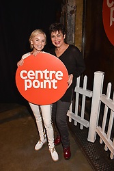 Left to right, Lisa Maxwell and Denise Welch at the Centrepoint Ultimate Pub Quiz, Village Underground, 54 Holywell Lane, London England. 7 February 2017.