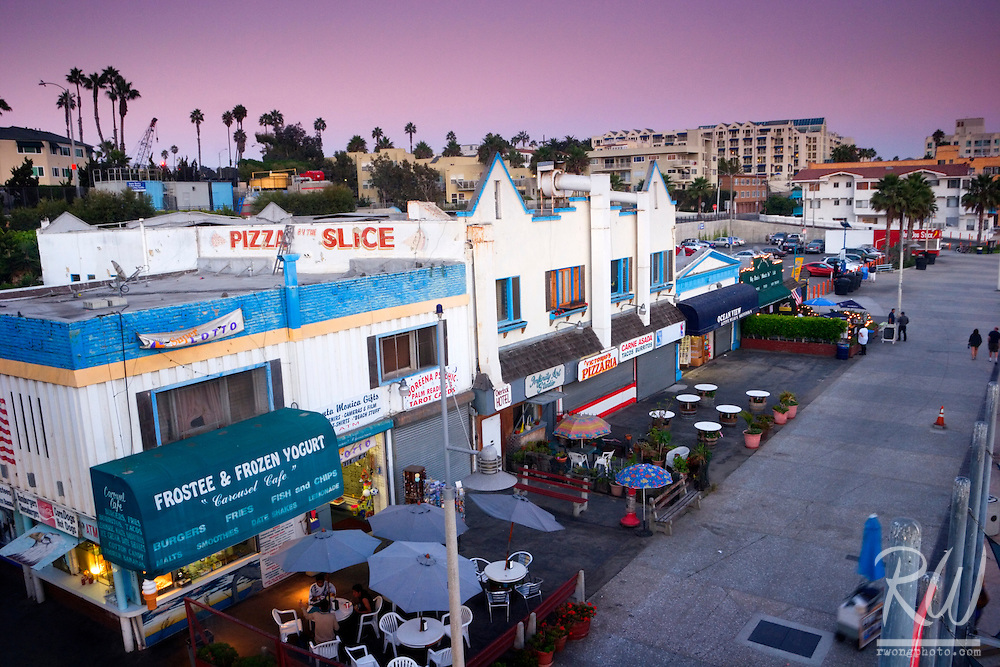 Restaurants, Santa Monica Pier, California