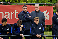 KIRKBY, ENGLAND - Saturday, September 24, 2016: Everton's David Unsworth and Joe Royle watch the Under-18's take on Liverpool during the Under-18 FA Premier League match at the Kirkby Academy. (Pic by David Rawcliffe/Propaganda)
