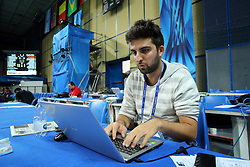 FIVB young writer Davide De Luca works for world championship