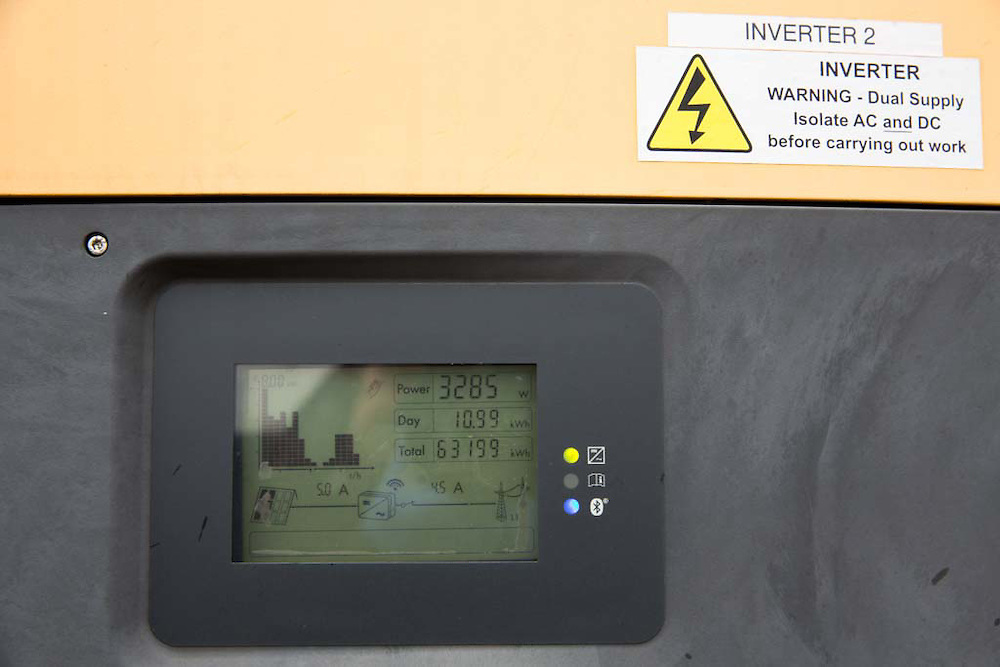 The solar array inverters that monitor and invert the energy made by Brixton Energy Solar who have installed several hundred square metres of solar panels on the roof of Elmore House in the Loughborough Estate in Brixton. Set up by Re-powering London, empower London communities to create their own renewable energy projects. (photo by Andrew Aitchison / In pictures via Getty Images)