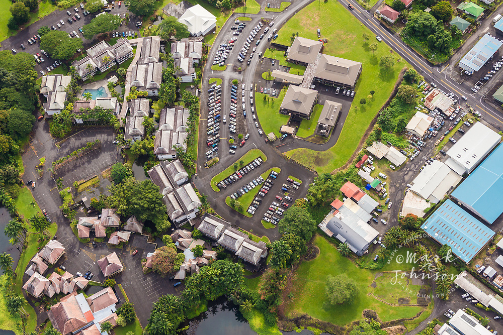 Aerial photo of Hilo area, Big Island, Hawaii