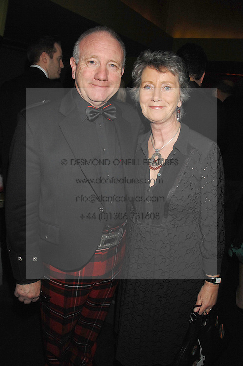 MR &amp; MRS JAMES McGREGOR at 'Not Another Burns Night' in association with CLIC Sargebt and Children's Hospice Association Scotland held at ST.Martins Lane Hotel, London on 3rd March 2008.<br />