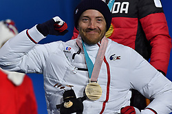 FRANCOIS_Frederic, ParaSkiAlpin, Para Alpine Skiing, Super G, Podium at PyeongChang2018 Winter Paralympic Games, South Korea.