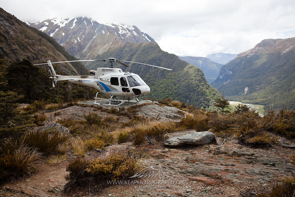 Helicopter, Routeburn, New Zealand