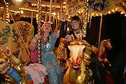 Zandra Rhodes and Hilary Alexander, Moet Mirage, Holland Park. 16 September 2007. -DO NOT ARCHIVE-© Copyright Photograph by Dafydd Jones. 248 Clapham Rd. London SW9 0PZ. Tel 0207 820 0771. www.dafjones.com.