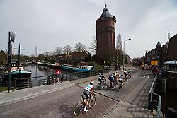 Christine Majerus (LUX) sits on the back of the lead group at Healthy Ageing Tour 2018 - Stage 5, a 94.3 km road race in Groningen on April 8, 2018. Photo by Sean Robinson/Velofocus.com