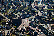 Nederland, Limburg, Gemeente Leudal, 07-03-2010; kerkdorp Haelen, kerk en gemeentehuis (r)..Parish village Haelen..luchtfoto (toeslag), aerial photo (additional fee required);.foto/photo Siebe Swart