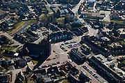 Nederland, Limburg, Gemeente Leudal, 07-03-2010; kerkdorp Haelen, kerk en gemeentehuis (r)..Parish village Haelen..luchtfoto (toeslag), aerial photo (additional fee required);.foto/photo Siebe Swart