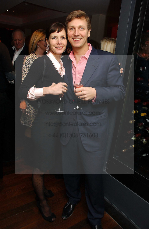 DARCEY BUSSELL and ANGUS FORBES at a St.Valentine's dinner hosted by Ruinart champagne at Tom Aikens Restaurant, Elystan Street, London on 6th February 2007.<br /><br />NON EXCLUSIVE - WORLD RIGHTS