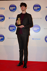 Mercury Prize. <br /> James Blake attends the Barclaycard Mercury Prize at The Roundhouse, London, United Kingdom. Wednesday, 30th October 2013. Picture by Nils Jorgensen / i-Images