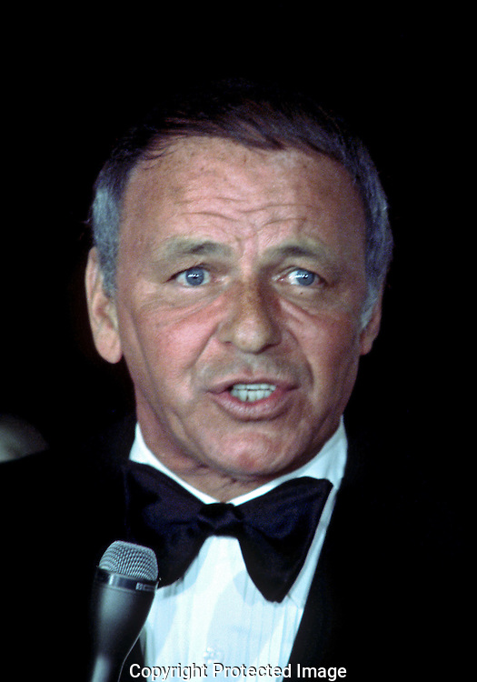 A 29MG IMAGE OF:..Frank Sinatra singing in the East Room of the White House in March 1973..Photo by Dennis Brack B 9