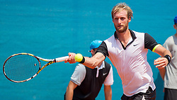 Michael Linzer (AUT) during a tennis match against the Robert Marcora (ITA) in Qualification round of singles at 26. Konzum Croatia Open Umag 2015, on July 19, 2015, in Umag, Croatia. Ptoto by Urban Urbanc / Sportida.com