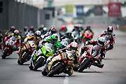 November 16-20, 2016: Macau Grand Prix. 2 Michael RUTTER, Bathams/SMT Racing  leads the start of the 50th Macau Motorcycle Grand Prix
